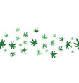 marijuana seamless pattern on a white background vector image