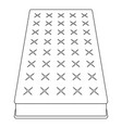 mattress icon outline style vector image vector image