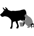 milking vector image vector image