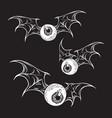 monster flying eyeballs with creepy demon wings vector image vector image