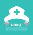 nurse hat vector image vector image