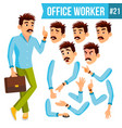 office worker emotions gestures vector image vector image
