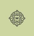 ornate monogram vector image