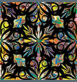 paisley seamless pattern colorful ornamental vector image vector image