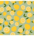 Pattern of lemons vector image