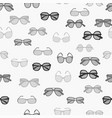 pattern with grayscale fashion retro glasses vector image vector image