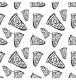 pattern with hand drawn pizza slices vector image