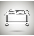 person on a stretcher vector image