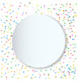 round copy space confetti party background vector image vector image