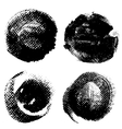 Round textured prints with paint on paper vector image