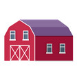 rural farm or ranch barn or stable flat vector image