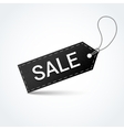 Sale black label vector image vector image
