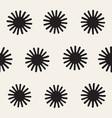 seamless sunburst shapes freehand pattern vector image vector image