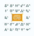 set fine line icons vector image vector image