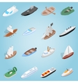 Ship set icons isometric 3d style vector image vector image