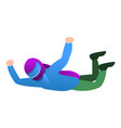 skydiver with helmet icon cartoon style vector image vector image