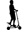 spacescooter silhouette vector image vector image