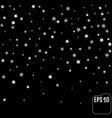 sparkling silver stars background on black golden vector image vector image