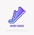sport shoes thin line icon vector image