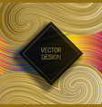 square frame on dynamic colorful background vector image