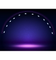 Stage lights circle projectors in the dark vector image vector image