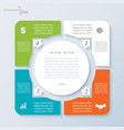 template infographic with four segments vector image vector image