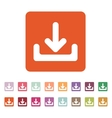 The download icon Load symbol Flat vector image