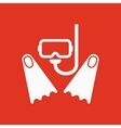The scuba mask and flippers icon Diving symbol vector image vector image
