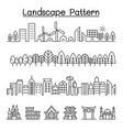 urban landscape forest smart city landmark vector image