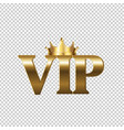 vip sign isolated transparent background vector image