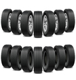 wedge tires vector image vector image