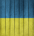 Wooden Grunge Flag Of Ukraine vector image vector image