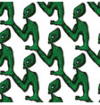 seamless doodle pattern alien vector image