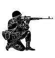 silhouette of a soldier vector image