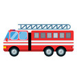 fire truck car isolated vector image