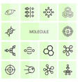 14 molecule icons vector image vector image