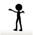 3d man silhouette walk towards vector image vector image