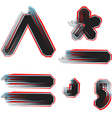 abstract font symbol vector image vector image