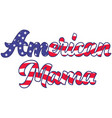 american mama on white background vector image vector image