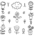 art of spring doodles vector image vector image