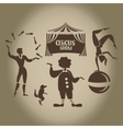 Background of the poster of circus in design vector image