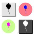 balloon flat icon vector image vector image