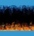 blue orange black abstract triangular background vector image