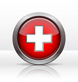 bright button with flag swiss vector image vector image