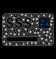 bright mesh 2d credit card with flare spots vector image vector image