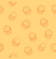 burgers outline isometric pattern vector image