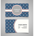 Business card template with background pattern vector image vector image