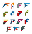 business corporate identity symbol of letter f vector image vector image