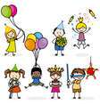 children set party vector image vector image