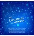 Christmas and Happy New Year Card with snowfall vector image vector image